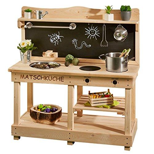 SUN Matschküche / Outdoor-Küche aus Holz - Kinderküche aus Holz - Spielküche für draussen …