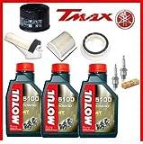KIT TAGLIANDO COMPLETO MOTUL 5100 10W-40 FILTRO OLIO FILTRI ARIA CANDELE T-MAX 500 ANNO 2001 2002 2003 2004 2005 2006 2007