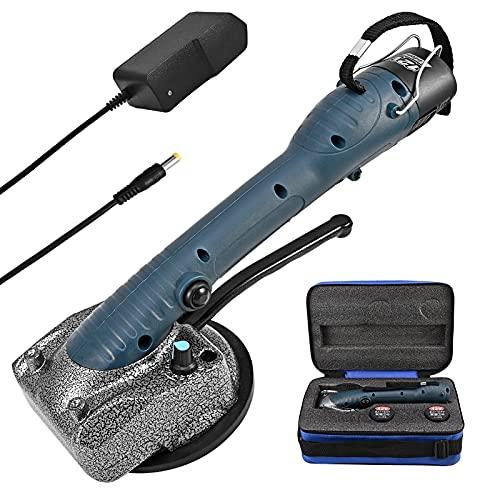 0,1-1,2 m Azulejos de Suelo de la Pared de la Máquina de Azulejos, Vogvigo Ventosa de 125 x 125 mm 45 Kg, 2 x Batería de Litio Recargable Sistema de Nivelación de Baldosas de 10 Engranajes de 10-150Hz