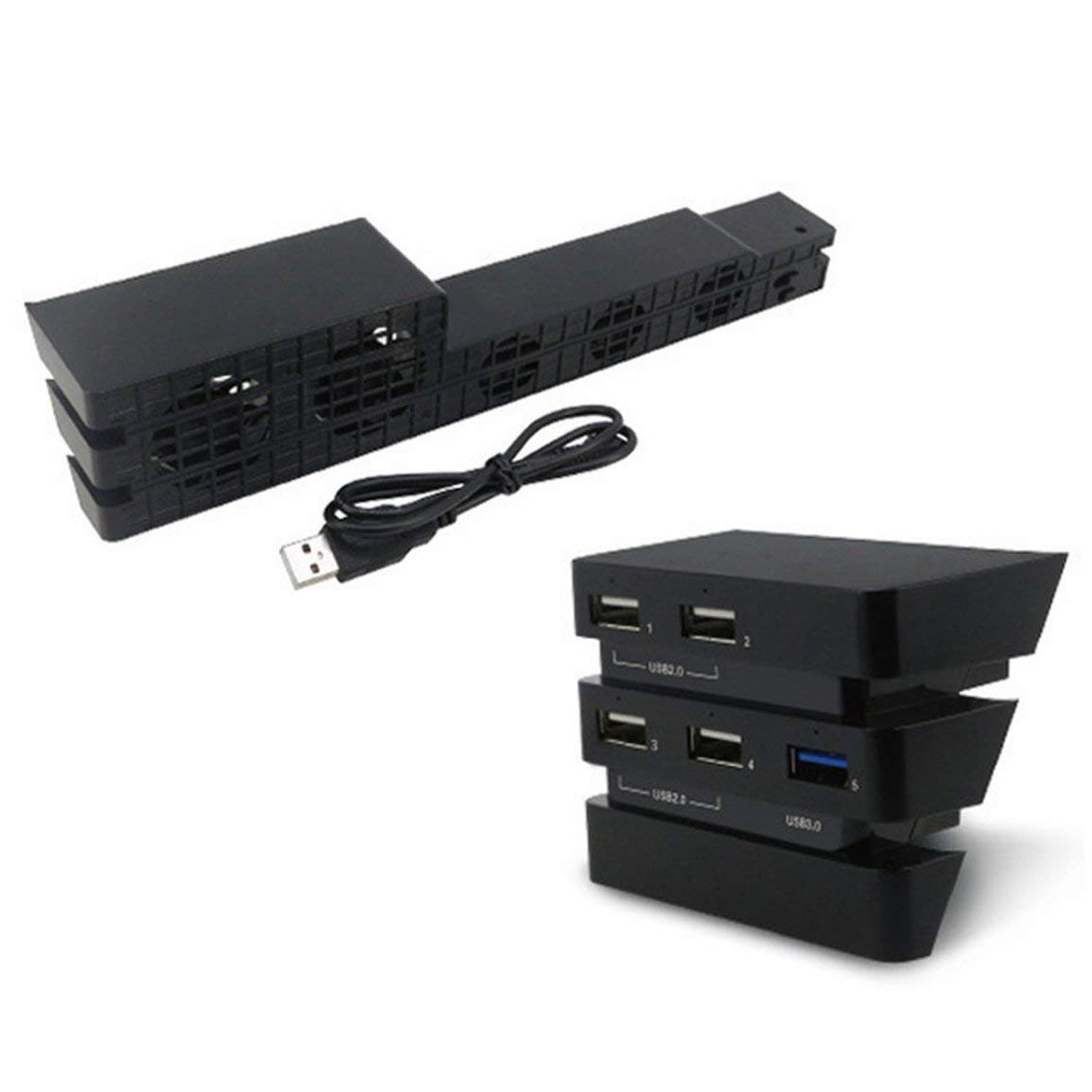 PS4 Pro Ventilador + Hub Set Ps4Pro refrigeración de Temperatura ...