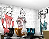 QAQB Fototapete 3D Shopping Poster Wandmalerei Shop