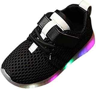 1f17947896ece Moonker Kids LED Shoes for 3-8 Years Old,Boys Girls Children Fashion Light  up Luminous Shoes Trainers Running Sneakers
