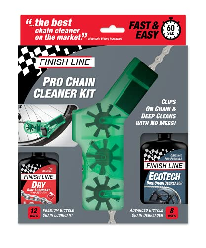 Finish Line Shop Quality Bicycle Chain Cleaner Kit with Lube and...