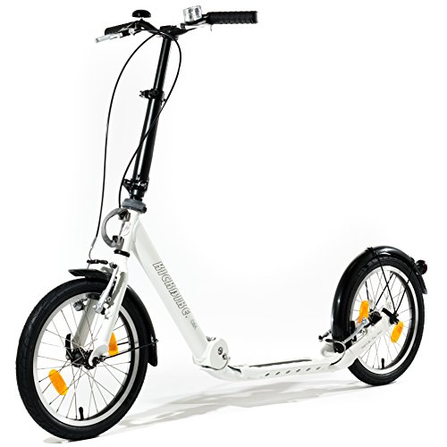 Klapproller KICKBIKE CLIX 2.0 WHITE Roller Scooter Tretroller klappbar