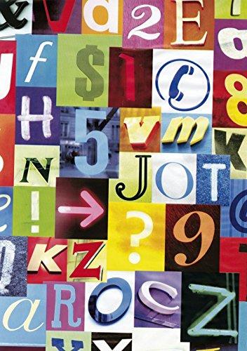 i.stHOME Klebefolie Alpha bunt - Zahlen und Buchstaben - Möbelfolie selbstklebend Retro Style - 45x200 cm