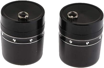 2pcs Leicht Angelruten Endkappe Kappen aus Aluminiumlegierung schwarz