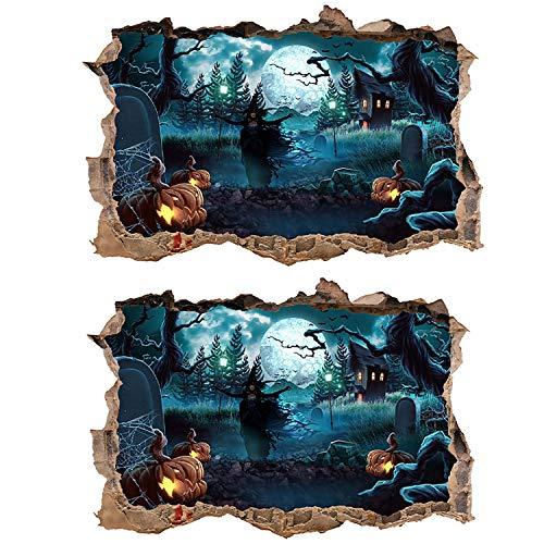 ZYLBL Pegatinas de pared 3D con fondo estéreo para decoración de fiestas, zonas de juego, pegatinas de pared, 69 x 46 cm, 2 unidades
