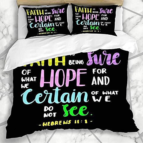 Beddengoedset, 3-delig, beschilderd, voor opdruk, Sure What Inspirational Saying Font Lettered We Hope Texture With Pillow Cover Soft Cover sets sets voor slaapkamer decoratie
