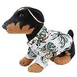 QiCheng & LYS Camisa para perroscamisa,para Perros de Moda, Camisa para Perros con Flores, Adecuada para Perros pequeños y medianos (Blanco, Small)