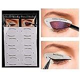4 Fiche fard à paupières professionnels Bouclier Eyeliner pochoirs parfait Smokey yeux ou Astuce Winged Regardez Tapis de maquillage jetables yeux