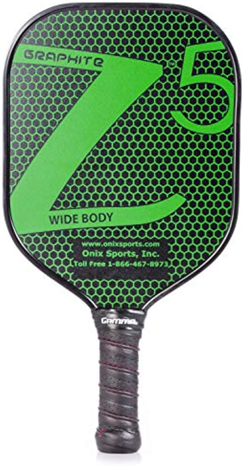 Onix Graphite Z5 Pickleball Paddle with Onix Branded Grip + Free Overgrip (Babolat Pro Tour) (Green)