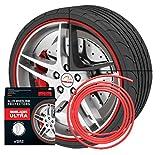 NEU - Rimblades mit 3M Kleber - Singlepackung - Farbe: rot - Premium Felgenschutz und Styling für 1 Alufelge bis 22'' ~ schneller Versand innerhalb 24 Stunden ~1