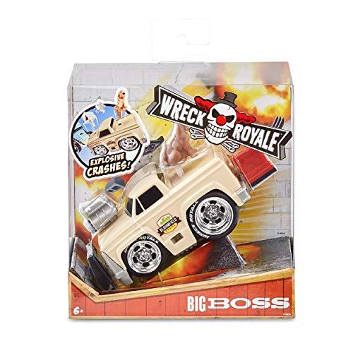 MGA Entertainment Wreck Royale Exploding Crashing Big Boss Race Car with 4 Mix 'N Match Explosive Parts