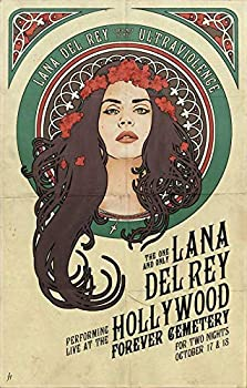 Divine Posters Lana Del Rey Musician Singer Songwriter 12 x 18 Inch Multicolour Famous Quoted Poster