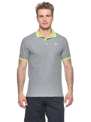 Dunlop Oberkörper-Bekleidung Casual Fancy Polo Men, Grau, XL