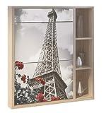 Abitti Recibidor Zapatero con Espejo Varios Compartimentos serigrafia Torre Eiffel 100x90cm