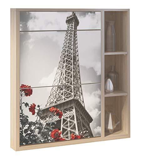 Abitti Recibidor Zapatero Varios Compartimentos serigrafia Torre Eiffel 100x90cm