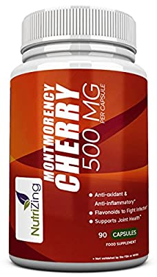 NutriZing Montmorency Cherry Supplements ~ 90 Capsules ~ Increase Overall Immunity ~ Can Reduce Uric Acid Levels ~ Has Antioxidant and Anti Inflammatory Properties ~ Contains Flavonoids Known To Fight Infection ~ Best For Joint Pain & Cardiovascular Healt