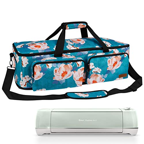 Natur@cho Storage Carrying Case with Dust Cover for Cricut Explore Air 2, Silhouette Cameo 3/4 Maker Accessories, Scrapbooking Die-Cut Machine Tote Bags Organizer