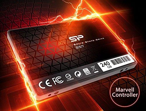 『シリコンパワー SSD 240GB TLC採用 Marvellコントローラー 2.5インチ 7mm SATA3 6Gb/s 3年保証 S57シリーズ SP240GBSS3S57A25』のトップ画像