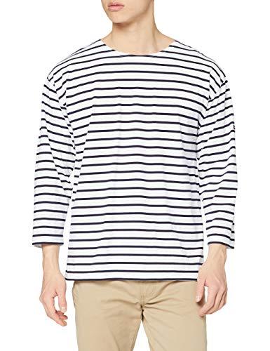 Armor Lux Herren T-Shirt Mariniere BEG MEIL M, Weiß (Blanc/Navire 400), Small ( Herstellergröße: 2)