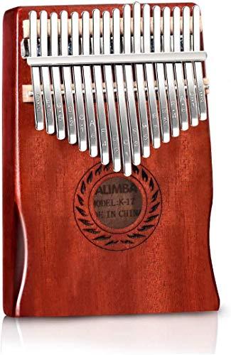 Kalimba - Piano de 17 llaves con instrucciones de estudio y martillo...