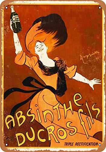 Absinthe Ducros Fils Blechschild Retro Blech Metall Schilder Poster Deko Vintage Kunst Türschilder Schild Warnung Hof Garten Cafe Toilette Club Geschenk