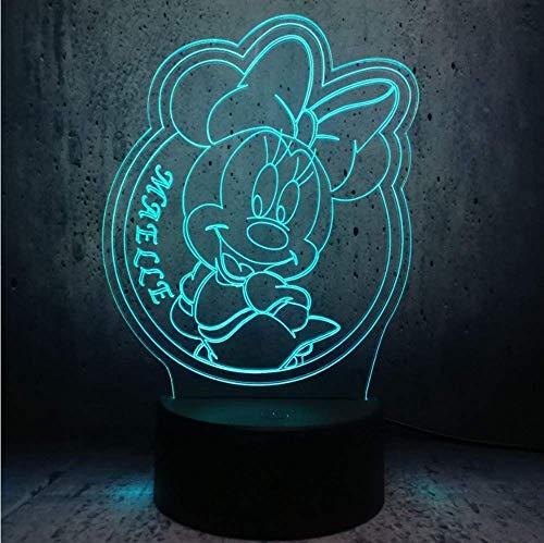 3D LED Nachtlicht Play Tennis Komm mit 7 Farben Licht für Hauptdekoration Lampe Erstaunliche Visualisierung Optische Täuschung