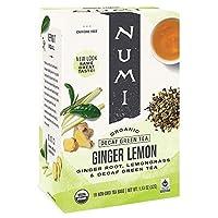 Numi Tea デカフェ(カフェイン抜き)ジンジャーレモンティー 1 box (18 ティーバッグ入り) [並行輸入品]