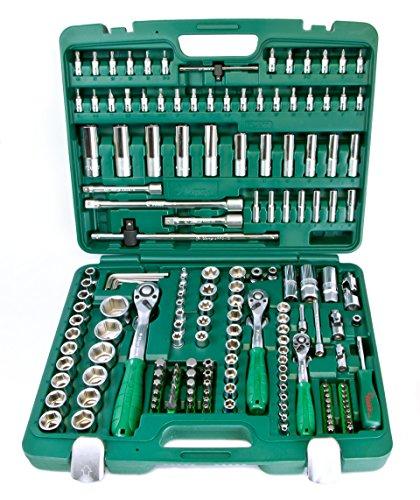 Hans Industrie-Werkzeugkoffer metrisch 177-tlg, Werkzeugkasten/Werkzeug Set - umfangreiches Sortiment, Übersichtliche Anordnung, Premium-Optik
