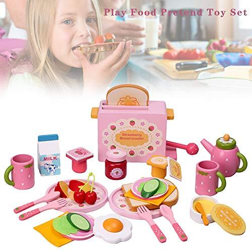 32 giocattoli da cucina, alimentari, educazione, accessori di gioco di simulazione per la simulazione della nutrizione, giocattolo, tostapane, fare simpatico stampo per bambini, regalo di Natale