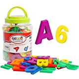 TSYAN Large Magnetic Letters Alphabet Refrigerator Magnets Fridge Magnet Plastic ABC Words Numbers Educational Preschool Learning Toys Spelling Counting Uppercase Lowercase Gifts for Kids Toddlers