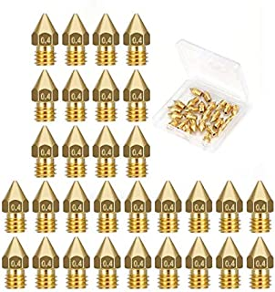 30PCS 3D Printer Extruder Nozzles - MK8 0.4mm Nozzles for Ender 3 Anet A8 Makerbot MK8 Creality CR-10 CR-10S S4 S5 3Pro 5