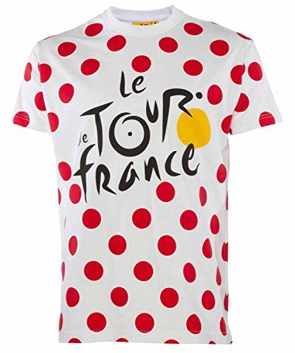 Le Tour de France Herren-T-Shirt, offizielle Kollektion, Erwachsenengröße L weiß