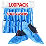 HUADYMEET Shoe Covers Disposable Large Shoe Covers Non Slip Waterproof Shoes Protectors Covers Durable Boot&Shoes Covers for Indoors,One Size Fits All, 100 Pack(50 Pairs),300g/Bag,Blue