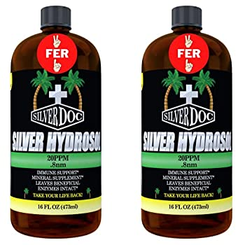 32 oz Total Silver Doc Silver Hydrosol Mineral Supplement Natural Alternative and Immune Support More Effective Than Any Colloidal Product