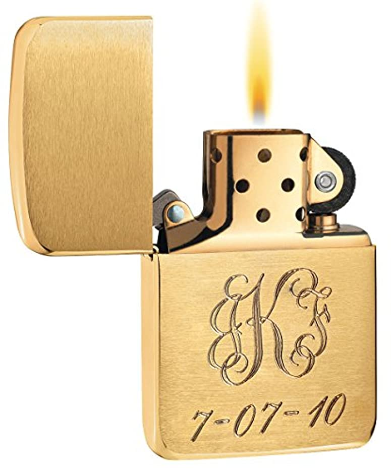 Personalized 1941 style Brushed Brass Zippo Lighter - Free Engraving