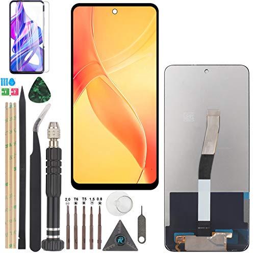 YWL-OU Reemplazo de Pantalla para Xiaomi Redmi Note 9S / Redmi Note 9 Pro LCD Display Digitalizador de Pantalla táctil +con un Conjunto de Herramientas (Negro)