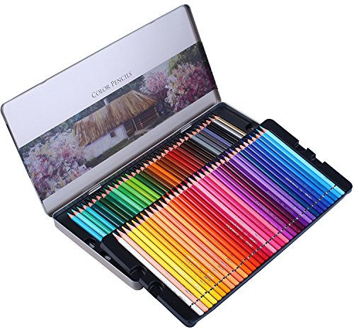 SJ STAR-JOY 72 Colored Pencils Professional Set for Adult Coloring Books, Premium Art Coloring Pencils with Vibrant Color, Perfect Holiday Gifts for Artist Drawing, Oil based soft core