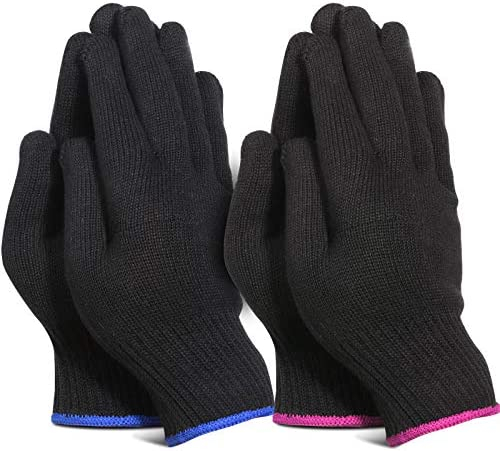 Teenitor 4 Pcs Heat Resistant Gloves for Hair Curling Iron Professional Heat Proof Gloves for product image