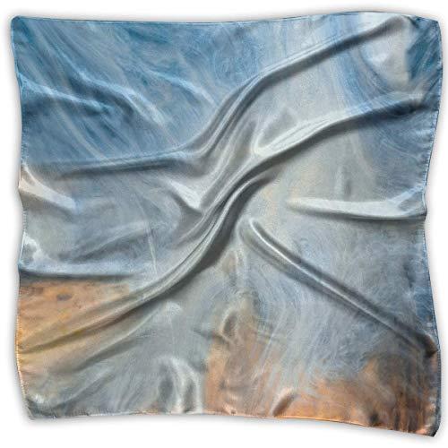 Pintura acrílica nubes y puesta de sol señora bufanda cuadrada impresa tocado cuello bufandas de satén...