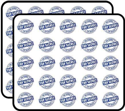 Top Secret Grunge Stempel Vinyl Stickers Grappige Leuke voor Kids DIY Crafts, Scrapbooking, Laptop, Bumper Auto Stickers, Stickers voor kinderen, 50 Pack
