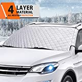 MATCC Windshield Snow Cover 4Layers Frost Ice Windshield Snow Ice Protector Window Outside Cover Shade Winter Snow Removal Waterproof Cover for All Weather Protection Most Cars Vehicle SUV Jeep