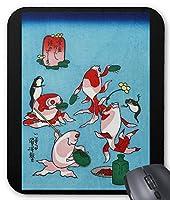 歌川国芳『 金魚づくし 』のマウスパッド:フォトパッド( 浮世絵シリーズ ) (酒のざしき)