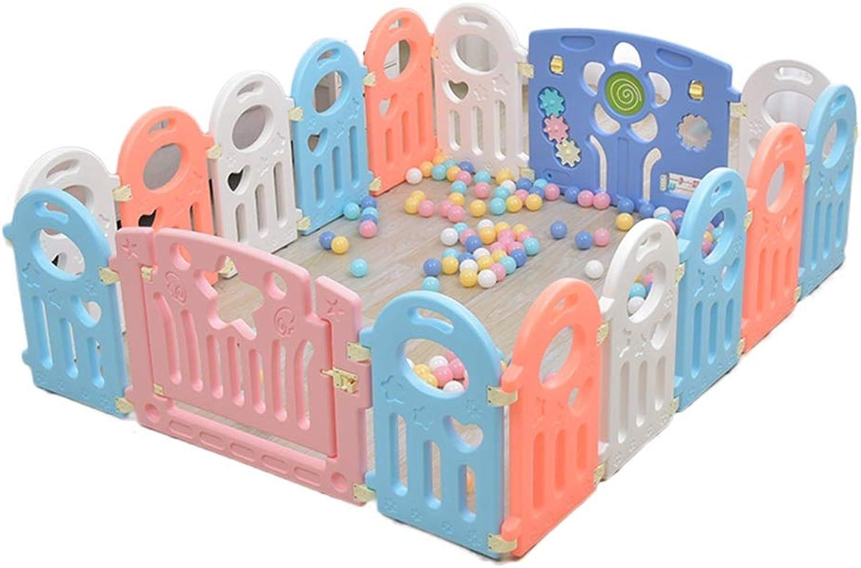 HWZPPP KJZhu Suglings-Spiel-Zaun, Schlafzimmer-Wohnzimmer-Baby-Kriechen, das lernt, schützenden Zaun-Innenspielplatz-Ozean-Ball-Pool 40-80CM zu gehen Faltbar