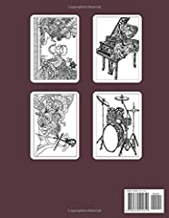 Music Coloring Book For Adults: An Adults coloring book filled with monsters, Stress Relieving, witches, pumpkin, haunted house and more for hours of fun and relaxation #1