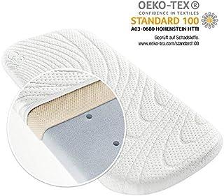 Alvi Colchón para capazo - TENCEL & Dry - 75x33 cm / Funda antihumedad / Espuma perforada / Cámara de aire 3D / Hipoalergénico / Sin sustancias nocivas