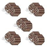 10/20/30/50/100 Uds Bufanda Unisex con Estampado Floral de Leopardo para Adultos para Mujeres y Hombres, Moda Universal, Bonita para el Trabajo Diario al Aire Libre