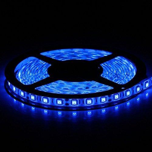 Flexible LED Strip Lights,300 Units SMD 5050 LEDs,LED Strips,Waterproof,12 Volt LED Light Strips, Pack of 16.4ft/5m,for Holiday/Home/Party/Indoor/Outdoor Decoration(Blue)