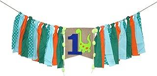 Dinosaur Highchair Banner Baby Boy 1st Birthday Party High Chair Bunting Garland Decoration